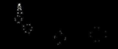 flash鼠标跟随发光星星效果