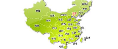 黄绿色版本中国各省动感flash地图素材