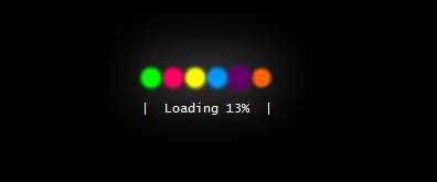 彩色发光loading素材