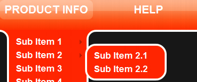 jquery二级下拉菜单导航代码11