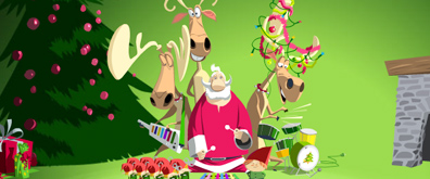 圣诞专辑,圣诞老人,圣诞节flash矢量素材