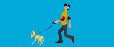 街头遛狗flash动画素材
