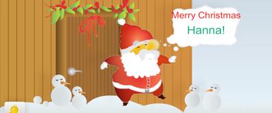 圣诞节圣诞老人相关网页flash素材