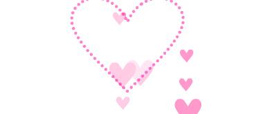 粉红色飘动心形flash透明素材