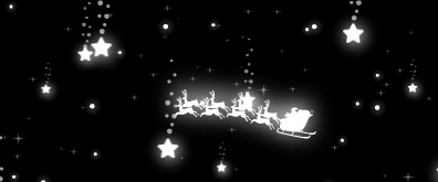 星空下的圣诞老人驾车而过flash透明素材