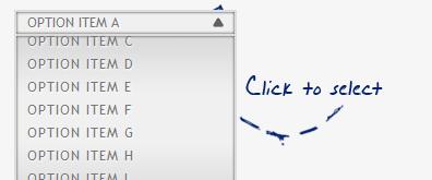 jquery+css3实现下拉选择列表上下滚动效果
