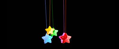 彩色摇摆许愿星flash透明素材