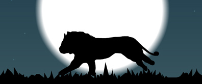 奔跑的雄狮flash透明素材