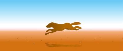 奔跑的野狼flash透明素材