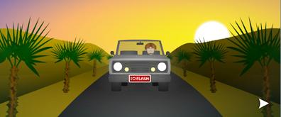 车辆行驶flash透明素材