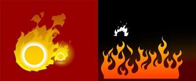 两款火红的火焰flash透明素材