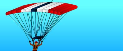 降落伞下降flash透明素材