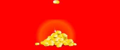 金币掉落flash透明素材