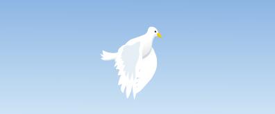 平安鸽子flash透明素材