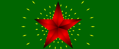 闪闪发光的五星红旗flash透明素材