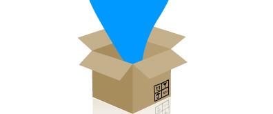 纸箱打开过程flash透明素材