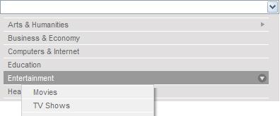 jquery下拉菜单select二级菜单导航