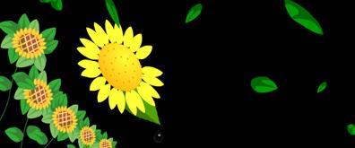 绿叶飘落向日库flash透明素材