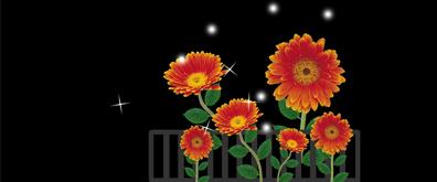 闪闪发光的向日葵flash透明素材