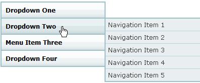 jquery垂直渐变弹出二级导航菜单