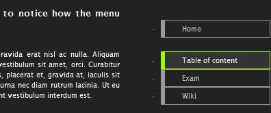 jquery+css右侧浮动html菜单导航