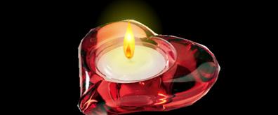 心形蜡烛flash透明素材