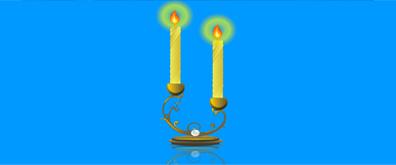 欧美风格蜡烛火焰flash透明素材