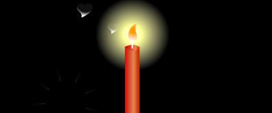 闪闪发光的红蜡烛flash素材