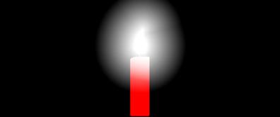 白色烛光flash素材