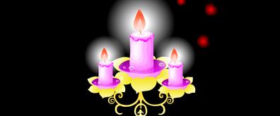 欧美风格蜡烛flash矢量素材