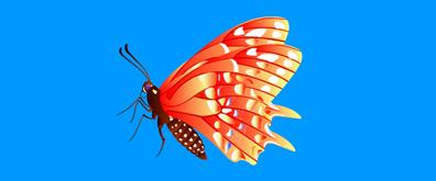 扇动翅膀的蝴蝶flash素材