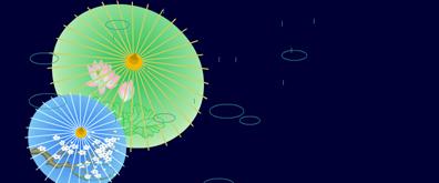 雨伞、雨滴flash素材
