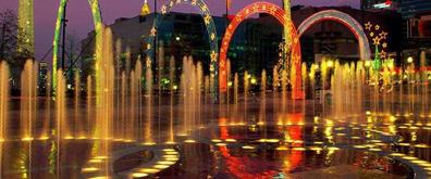 经典喷泉夜景综合效果flash素材