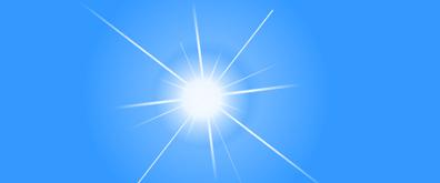 逐渐放大缩小的太阳光光线flash