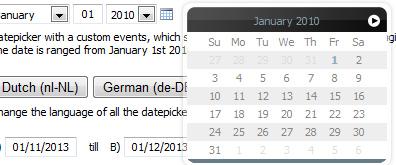 mootools实现同页面不同日期选择效果