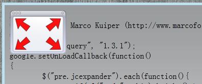 jquery代码模块自动伸缩效果
