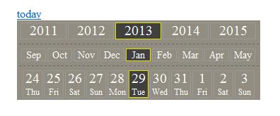 jquery日历选择器