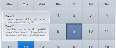 jquery UI渐变提示效果日历