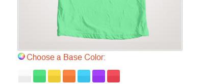 常用的产品图片换肤选择插件