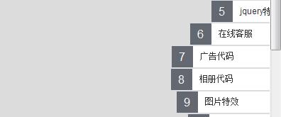 类似QQ客服始终悬浮在网页右侧并可依次展开的菜