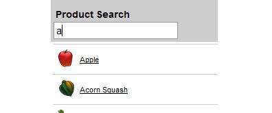 jquery搜索表单过滤效果