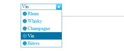 jquery竖向下拉select选择样式表