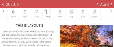 tab标签样式UI简洁版日历表