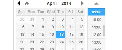 DateTimePicker:jQuery日期和時間插件
