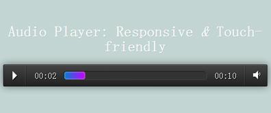 html5响应式触摸音频播放插件——AUDIOPLAYER.JS