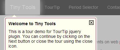 适合网站新改版后引导指示说明插件--tinytools.t