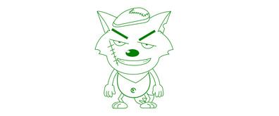 HTML5 Canvas绘制灰太狼图像效果