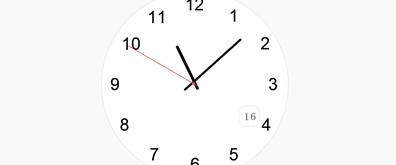 纯jQuery代码实现时钟效果