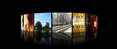 flash+xml全屏立体式图片相册效果
